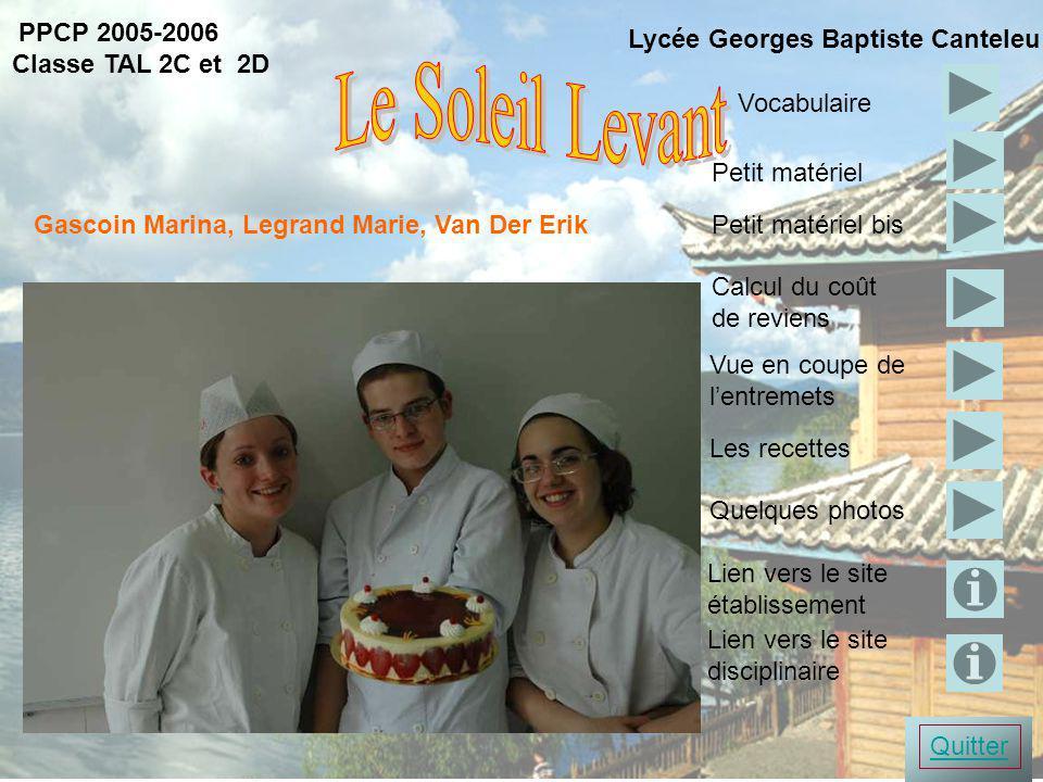 présentation Le Soleil Levant PPCP 2005-2006