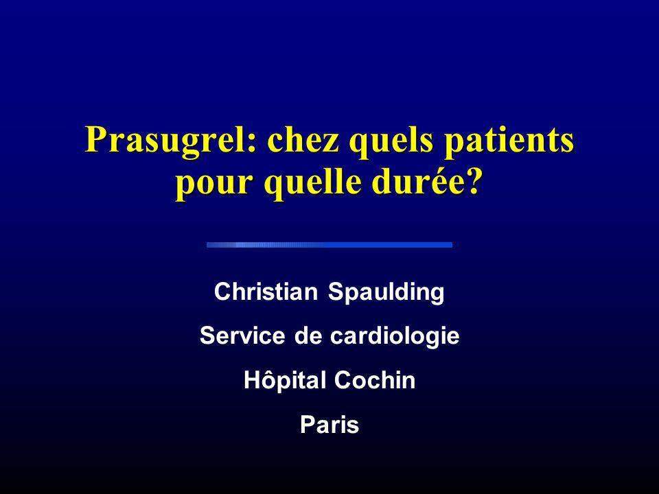 Prasugrel: chez quels patients pour quelle durée