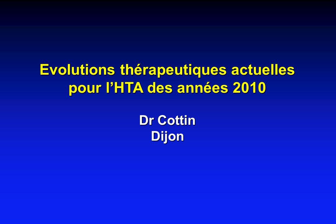 Evolutions thérapeutiques actuelles