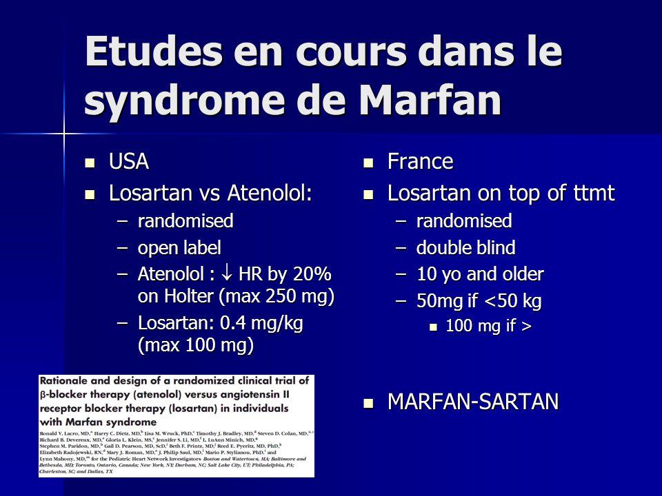 Etudes en cours dans le syndrome de Marfan