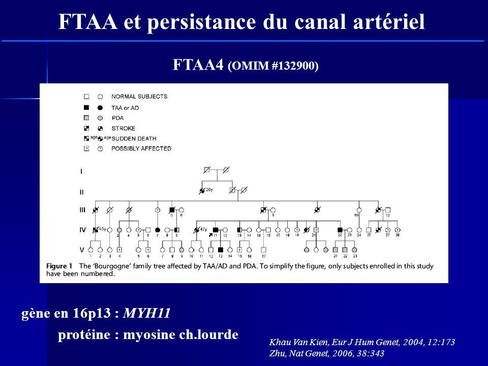 FTAA et persistance du canal artériel