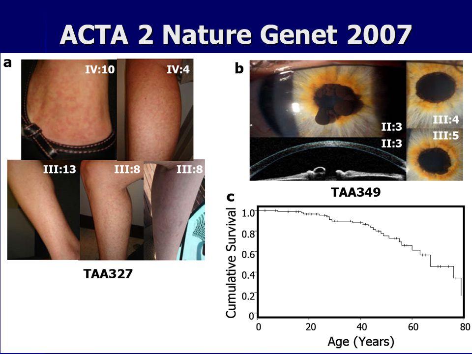 ACTA 2 Nature Genet 2007