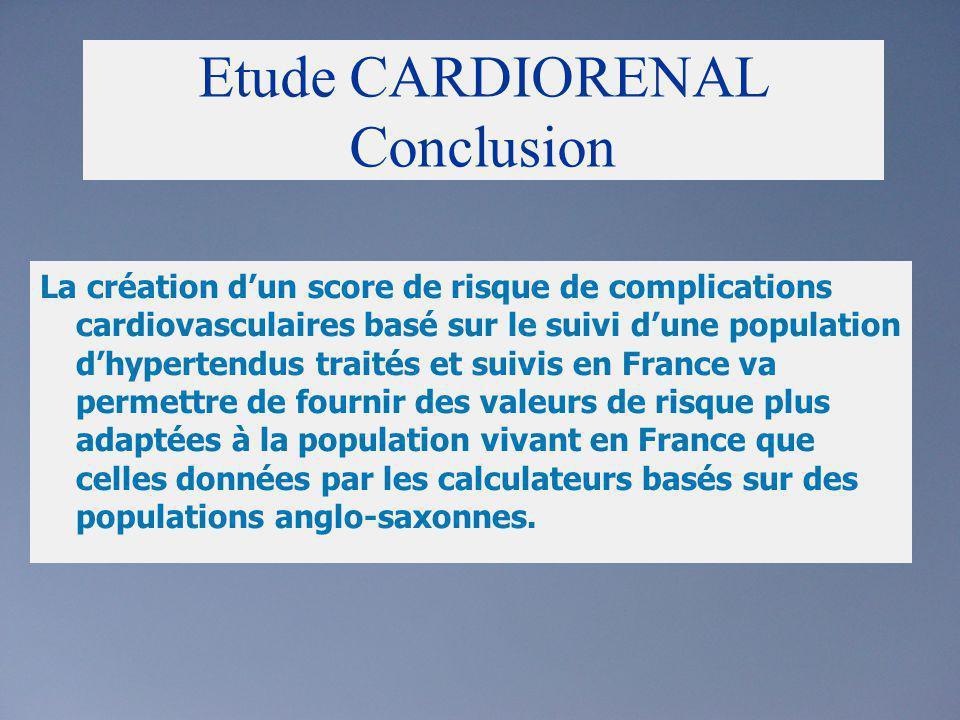 Etude CARDIORENAL Conclusion