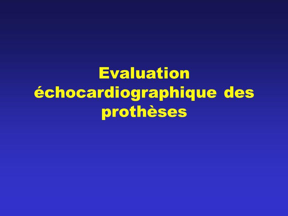 Evaluation échocardiographique des prothèses