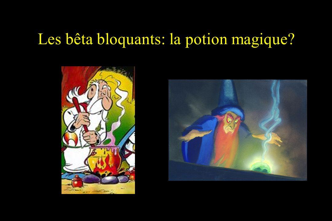 Les bêta bloquants: la potion magique