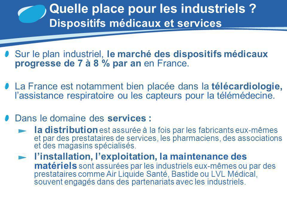 Quelle place pour les industriels Dispositifs médicaux et services