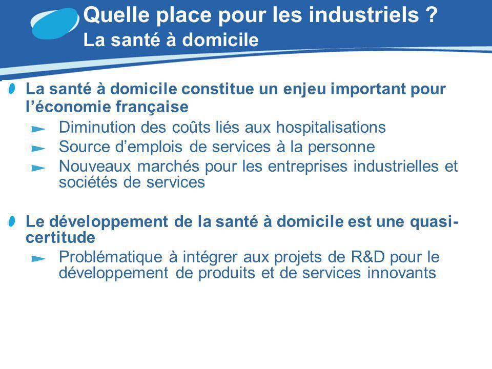 Quelle place pour les industriels La santé à domicile
