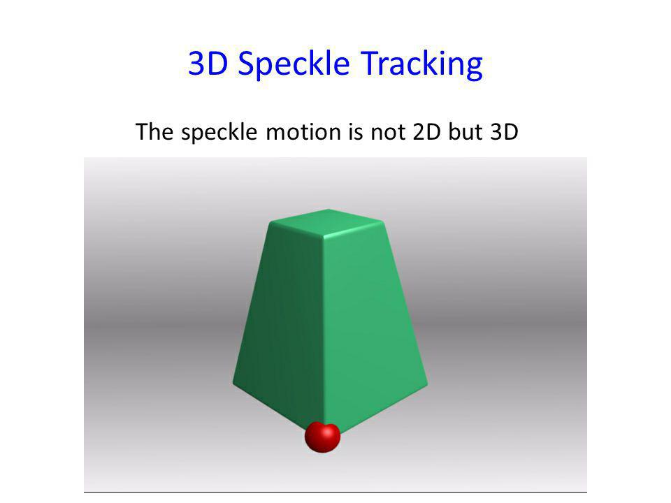 3D Speckle Tracking The speckle motion is not 2D but 3D