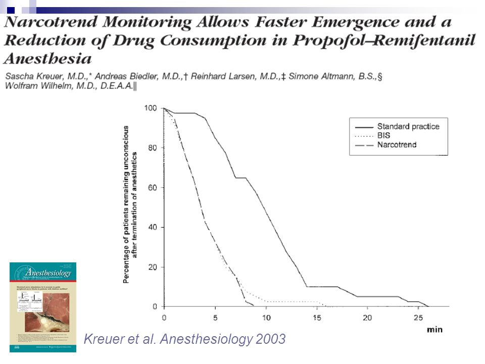 Kreuer et al. Anesthesiology 2003
