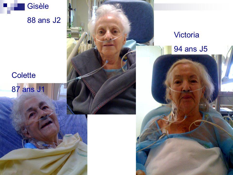 Gisèle 88 ans J2 Victoria 94 ans J5 Colette 87 ans J1 34