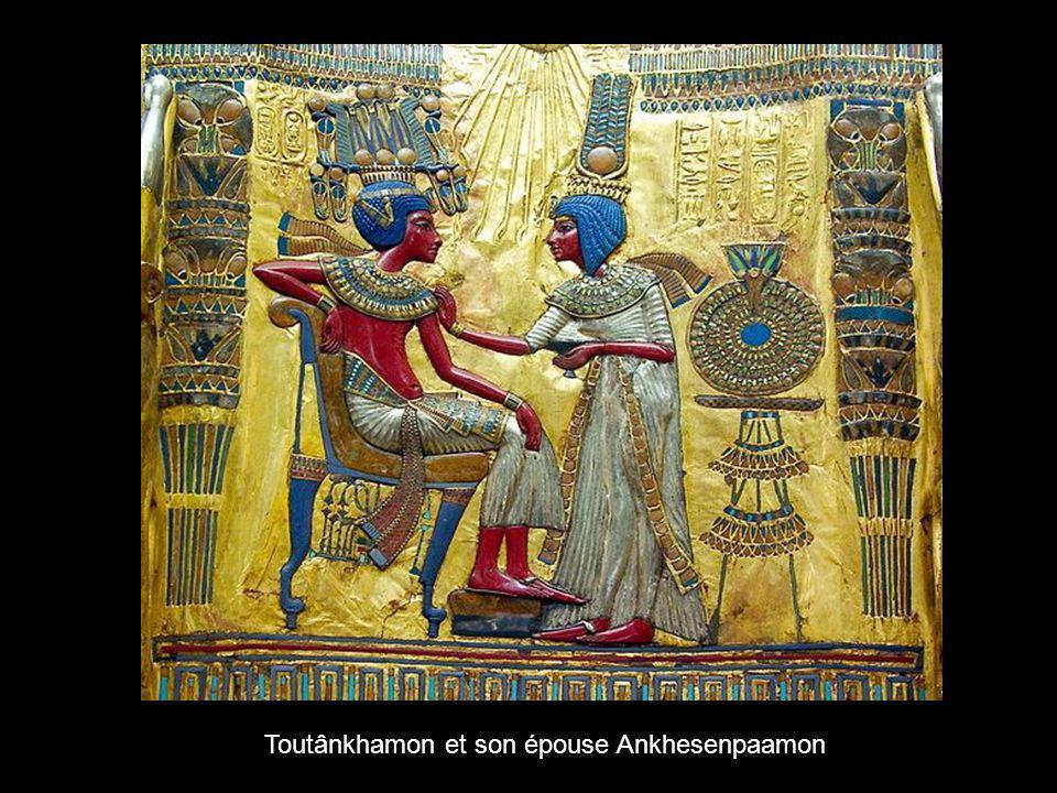 Toutânkhamon et son épouse Ankhesenpaamon