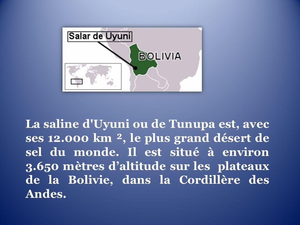 La saline d Uyuni ou de Tunupa est, avec ses 12
