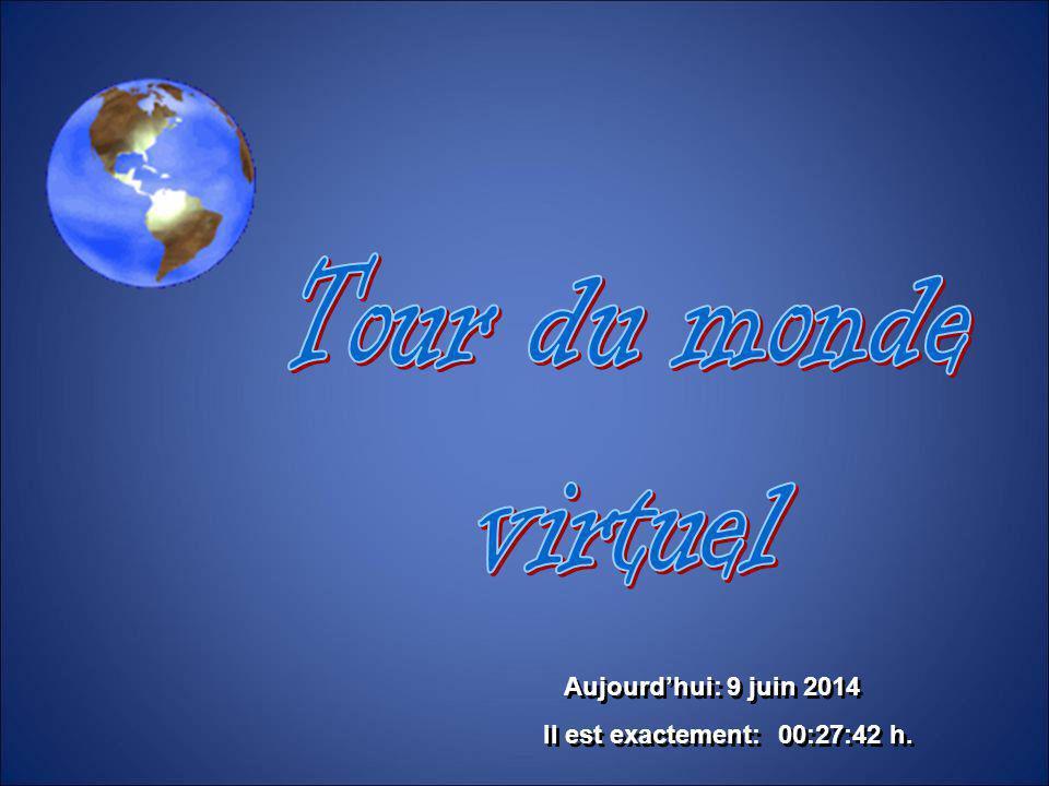 Tour du monde virtuel Aujourd'hui: 1er avril 2017