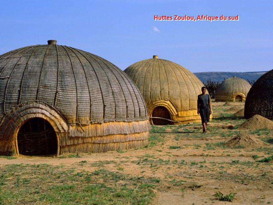 Huttes Zoulou, Afrique du sud