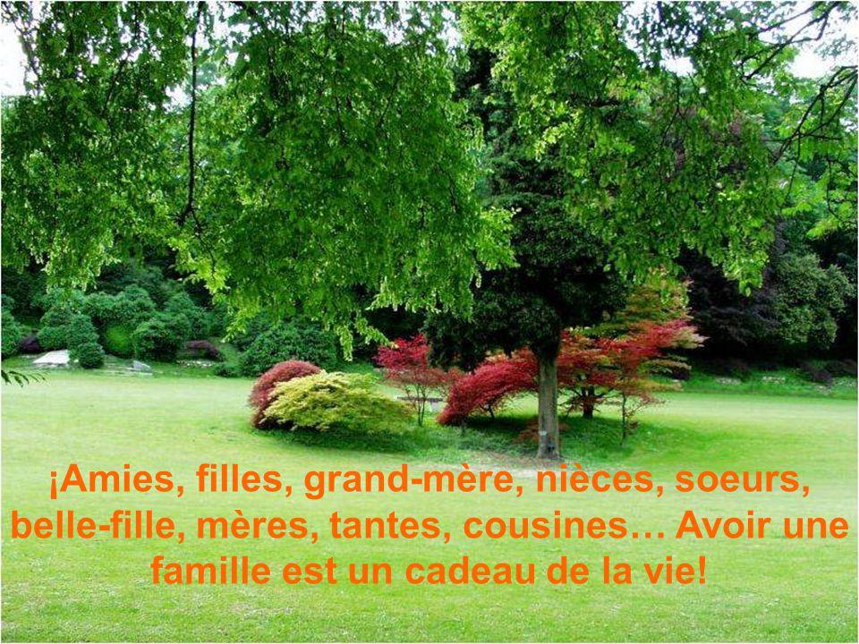 ¡Amies, filles, grand-mère, nièces, soeurs, belle-fille, mères, tantes, cousines… Avoir une famille est un cadeau de la vie!
