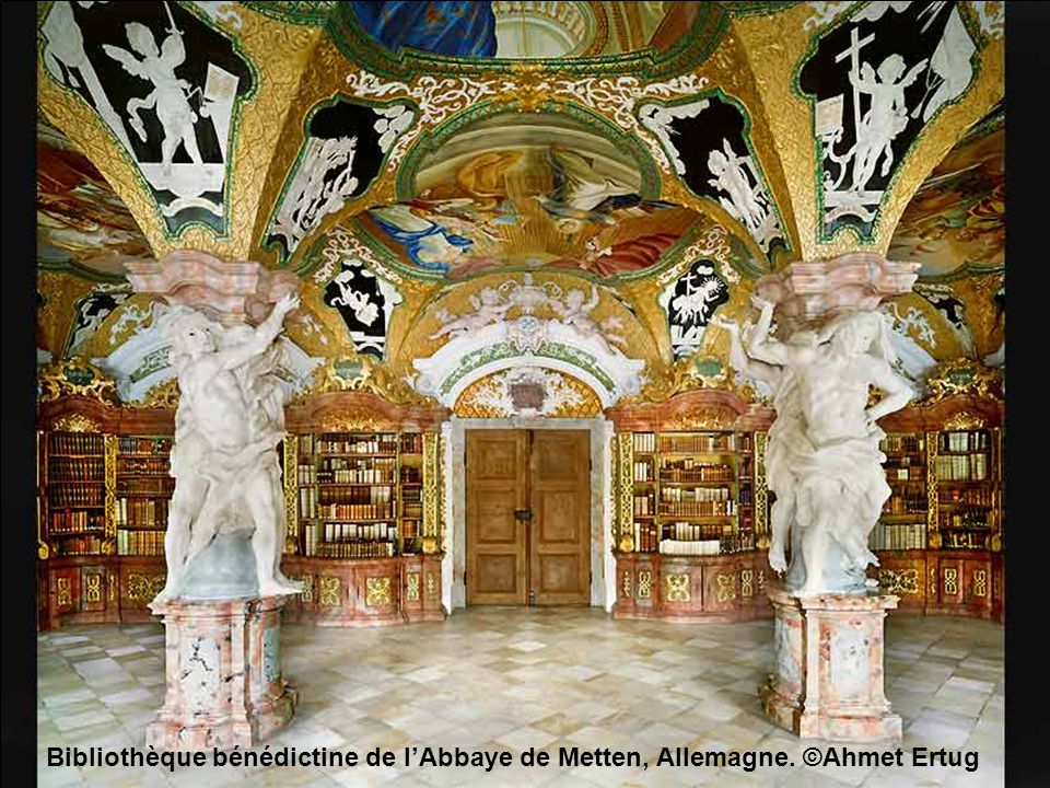 Bibliothèque bénédictine de l'Abbaye de Metten, Allemagne. ©Ahmet Ertug