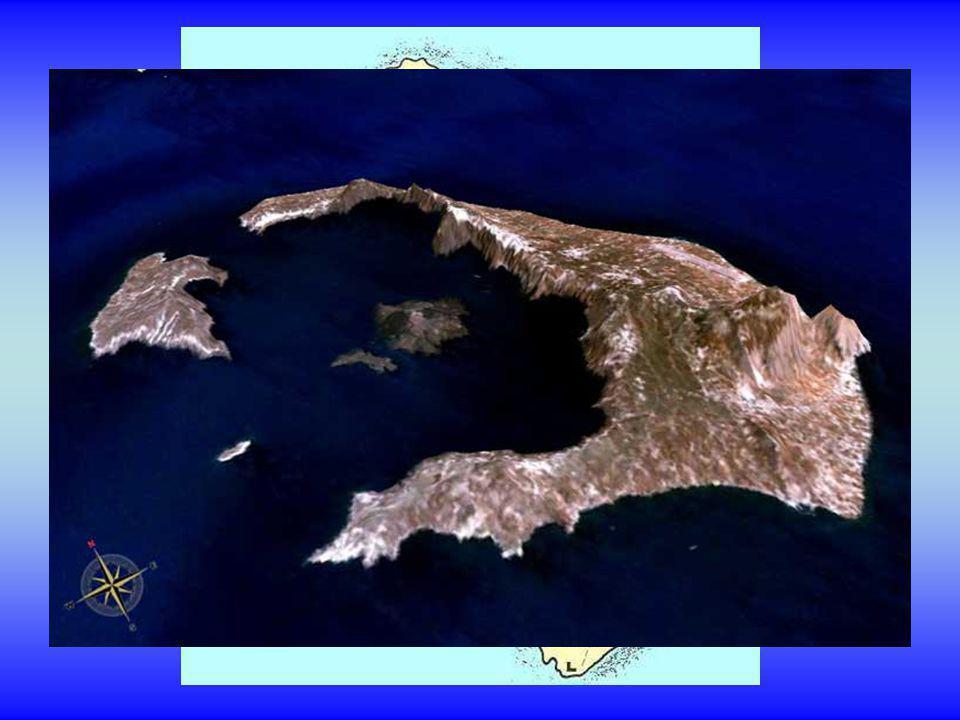 La partie volcanique active est formée par l'île de Néa Kaméni.