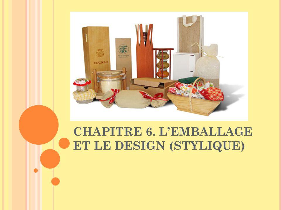 CHAPITRE 6. L'EMBALLAGE ET LE DESIGN (STYLIQUE)