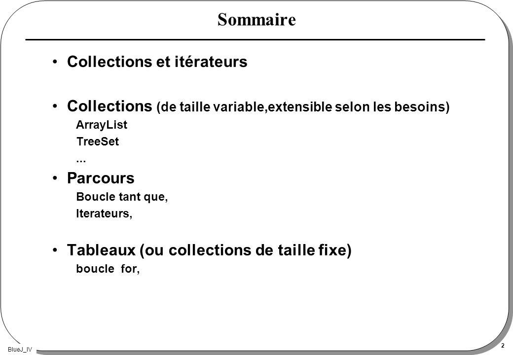 Sommaire Collections et itérateurs