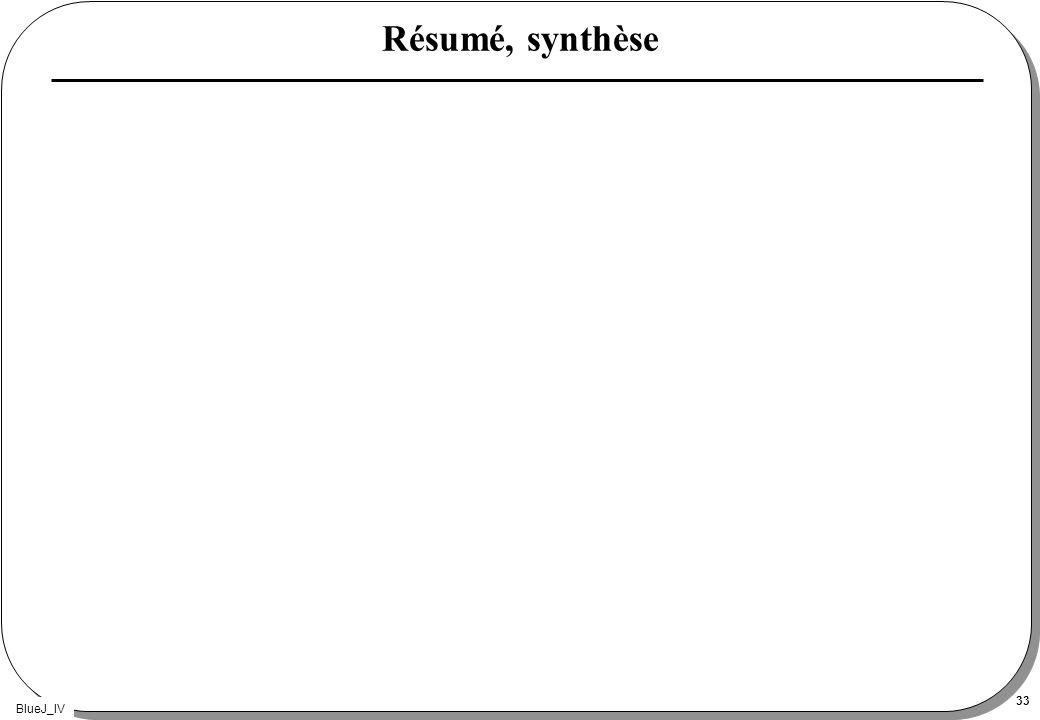 Résumé, synthèse