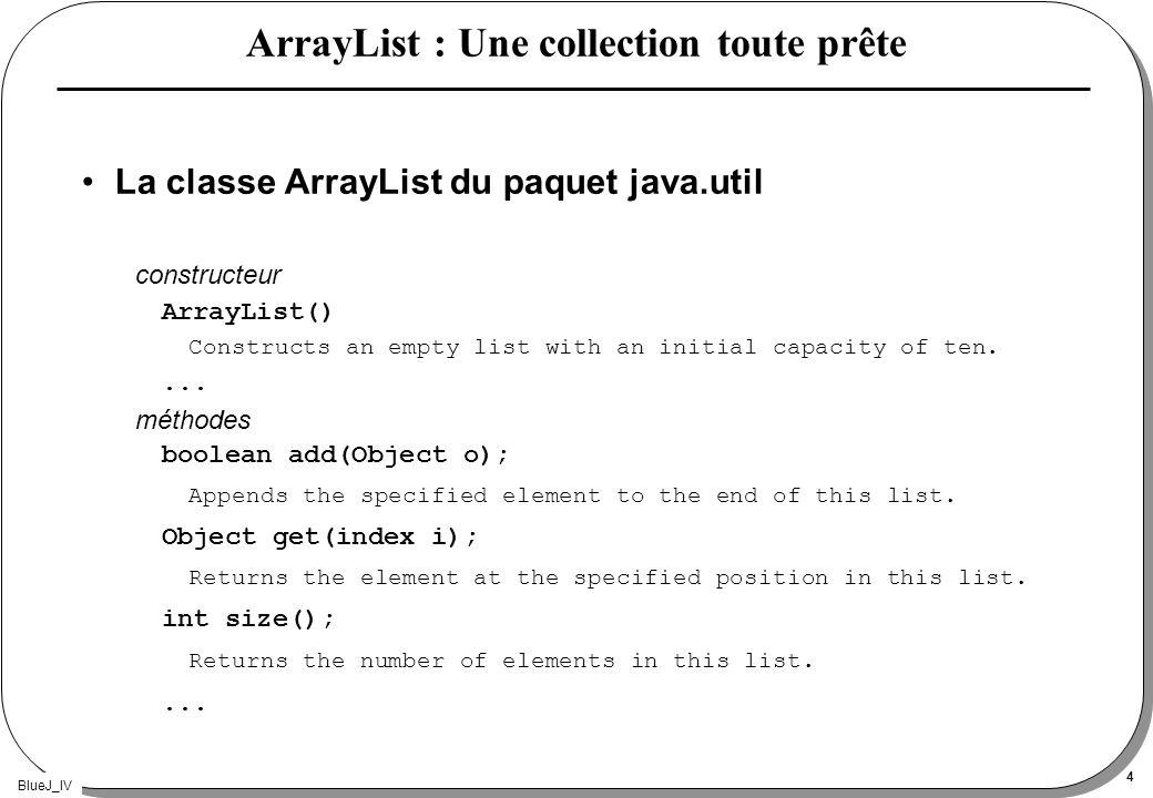 ArrayList : Une collection toute prête