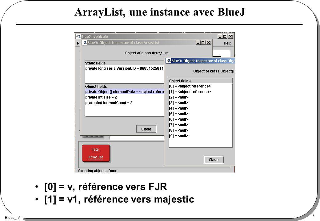 ArrayList, une instance avec BlueJ