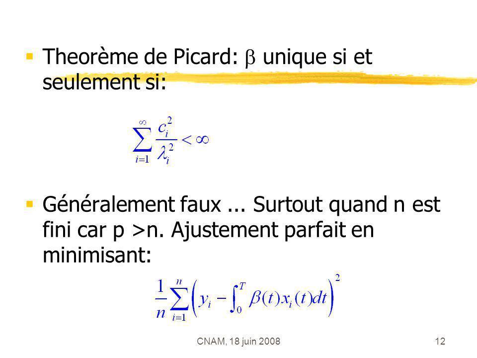 Theorème de Picard:  unique si et seulement si:
