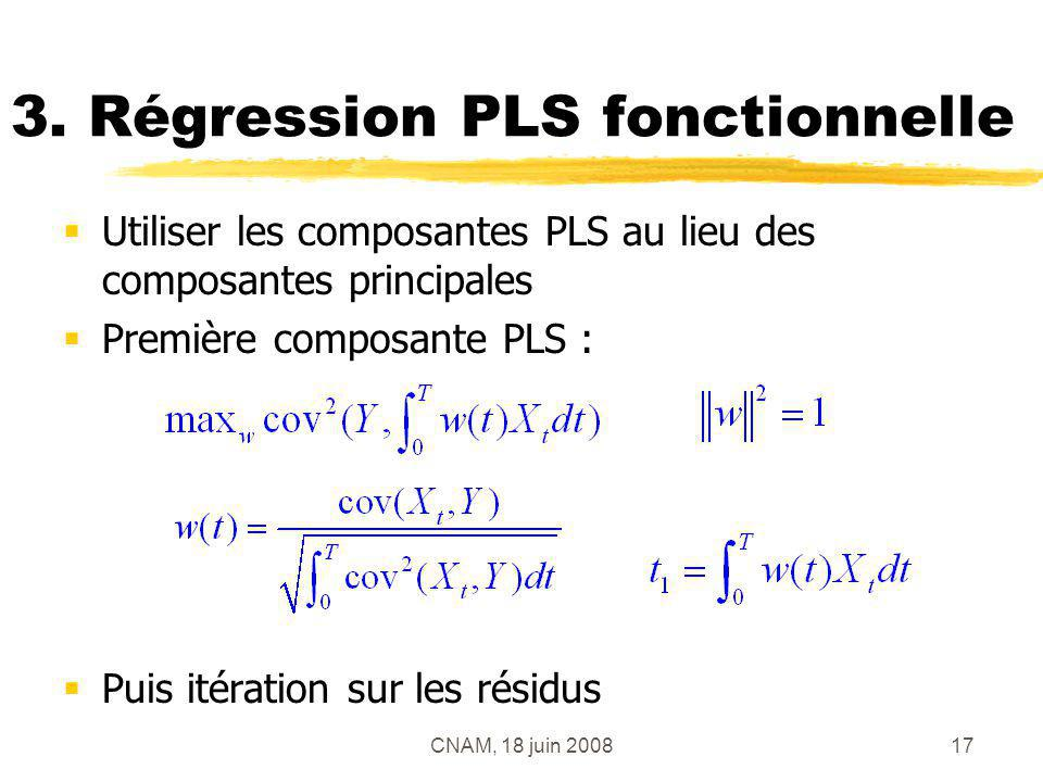 3. Régression PLS fonctionnelle