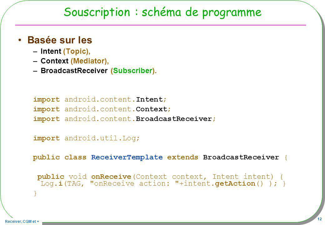 Souscription : schéma de programme