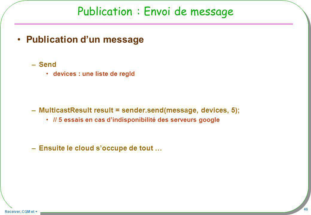 Publication : Envoi de message