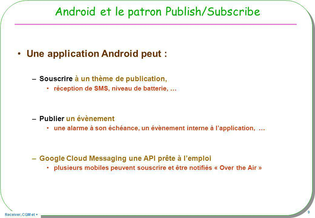 Android et le patron Publish/Subscribe
