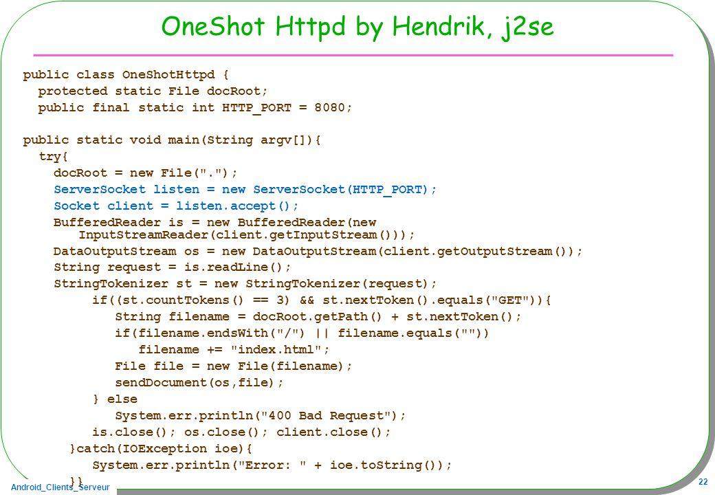 OneShot Httpd by Hendrik, j2se