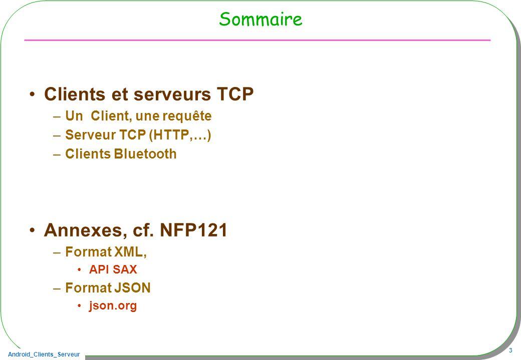 Clients et serveurs TCP