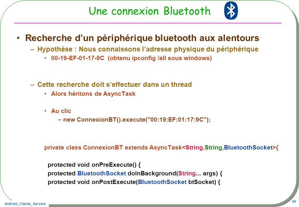 Une connexion Bluetooth