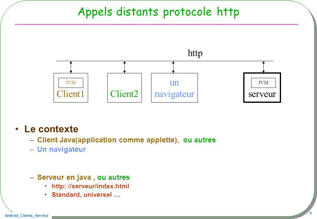 Appels distants protocole http