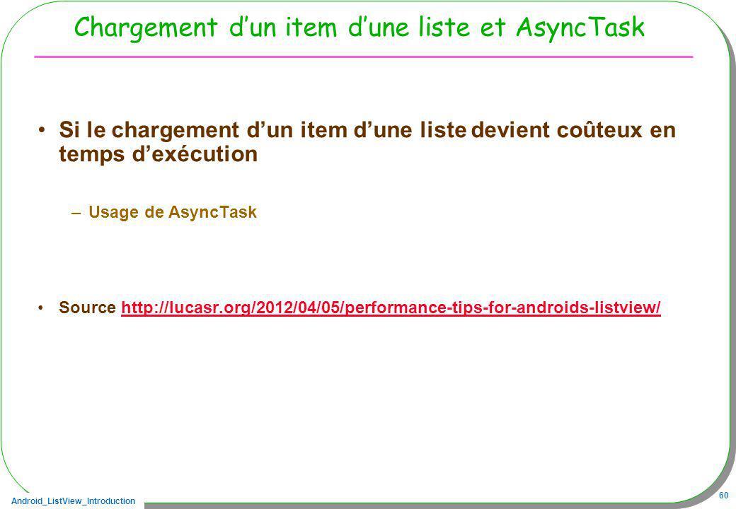 Chargement d'un item d'une liste et AsyncTask
