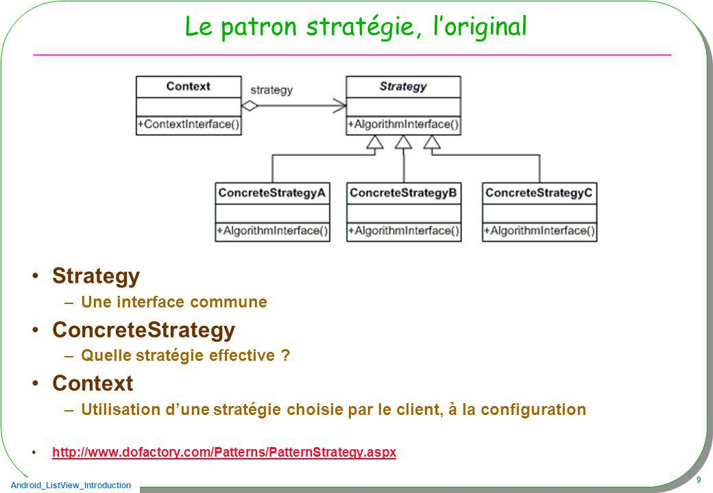 Le patron stratégie, l'original
