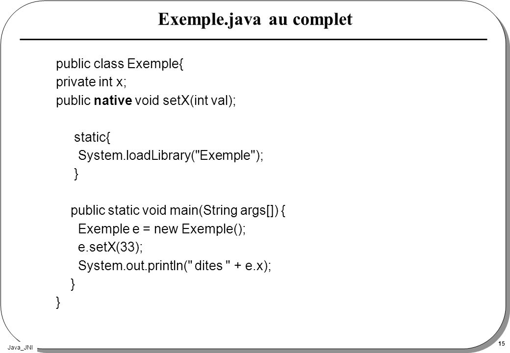 Exemple.java au complet