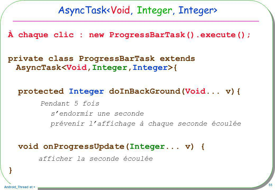 AsyncTask<Void, Integer, Integer>