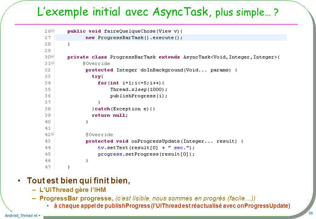 L'exemple initial avec AsyncTask, plus simple…