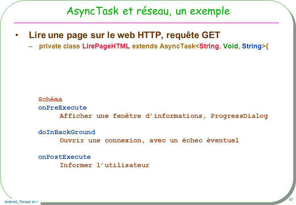 AsyncTask et réseau, un exemple