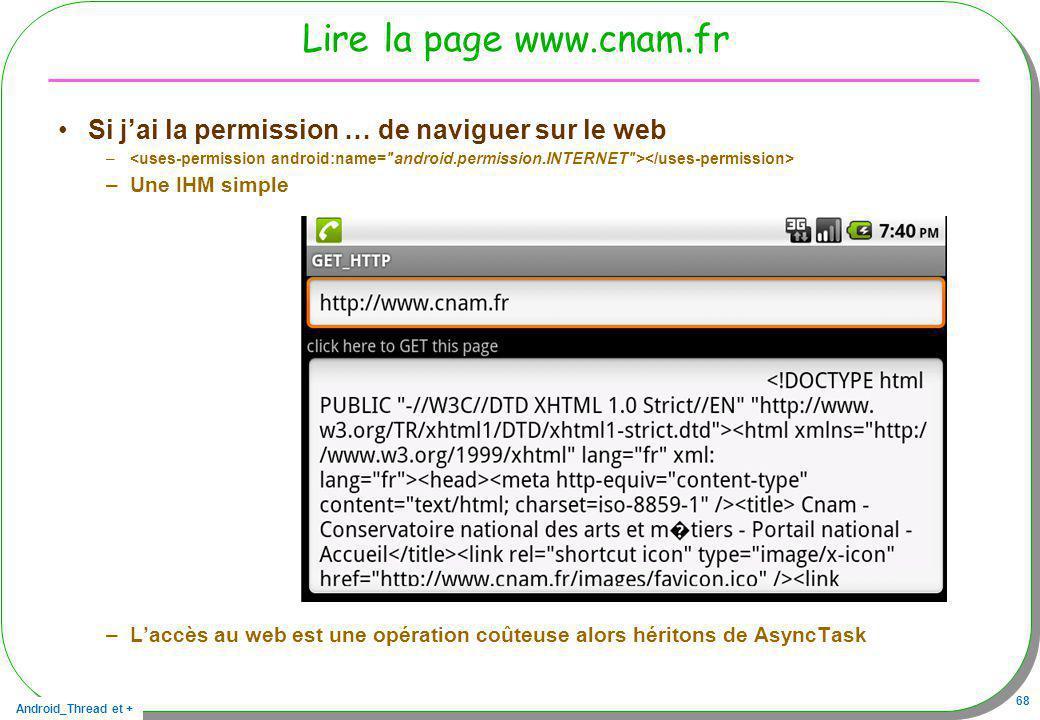 Lire la page www.cnam.fr Si j'ai la permission … de naviguer sur le web.