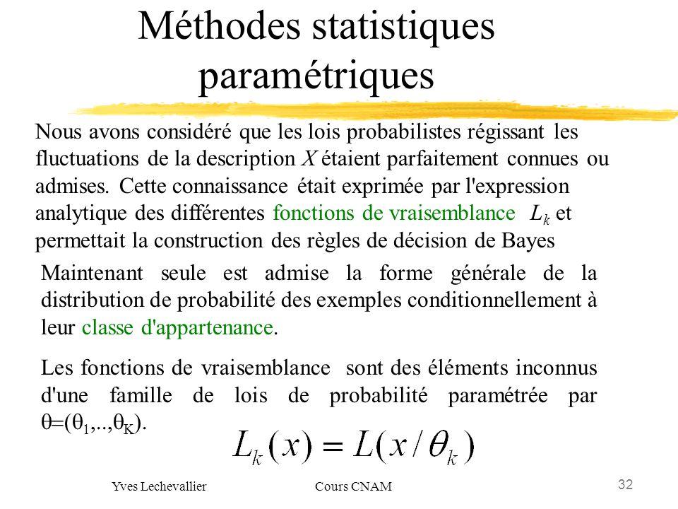 Méthodes statistiques paramétriques