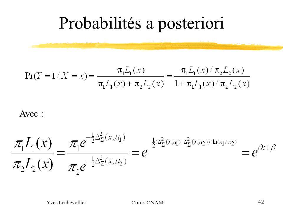 Probabilités a posteriori