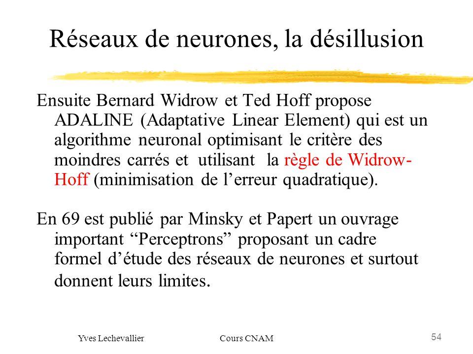 Réseaux de neurones, la désillusion
