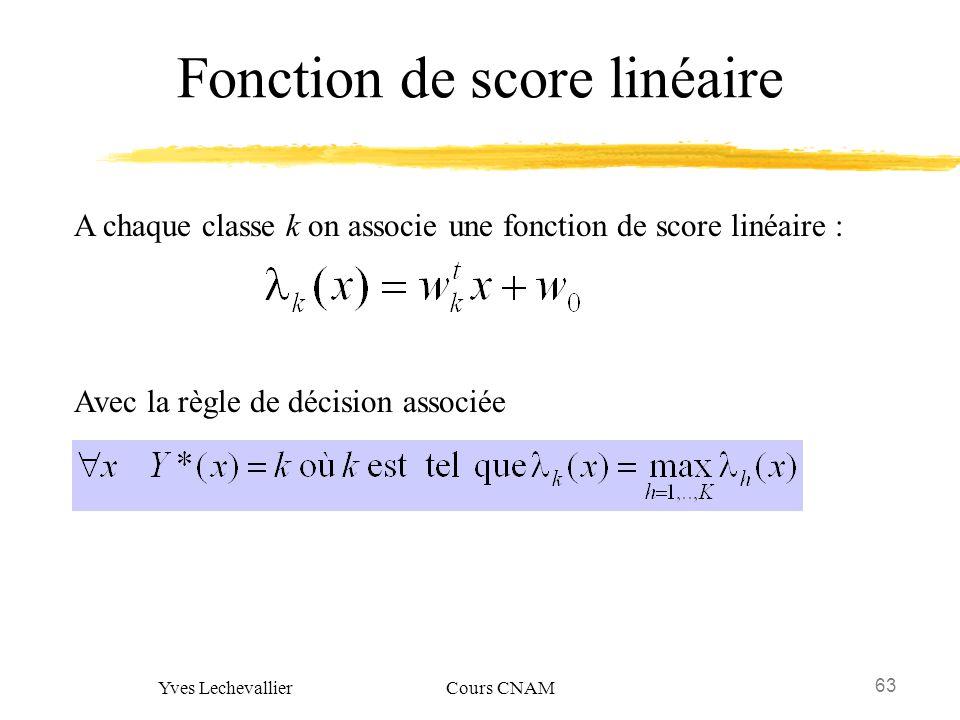 Fonction de score linéaire