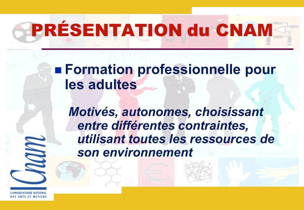 PRÉSENTATION du CNAM Formation professionnelle pour les adultes