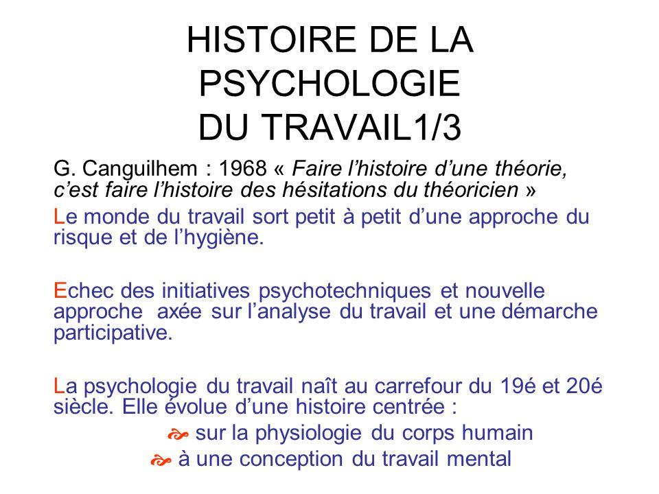 HISTOIRE DE LA PSYCHOLOGIE DU TRAVAIL1/3
