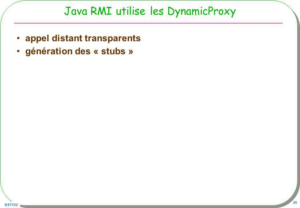 Java RMI utilise les DynamicProxy