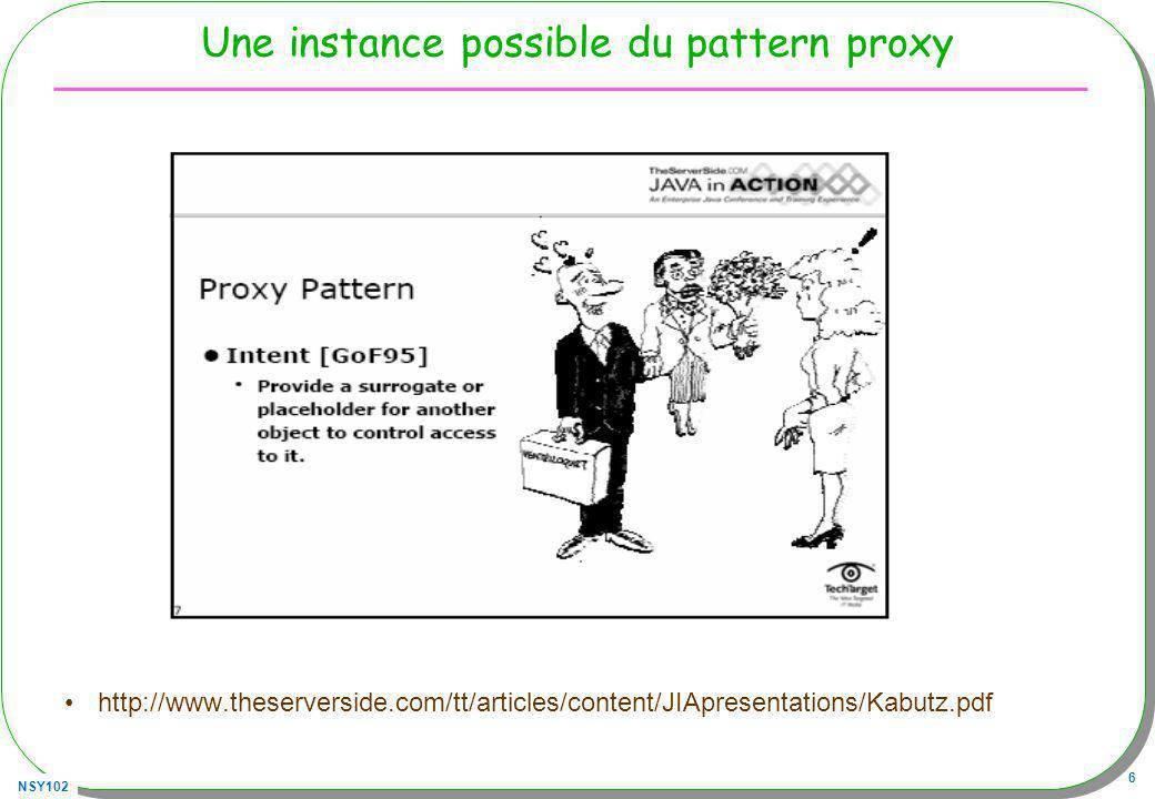Une instance possible du pattern proxy